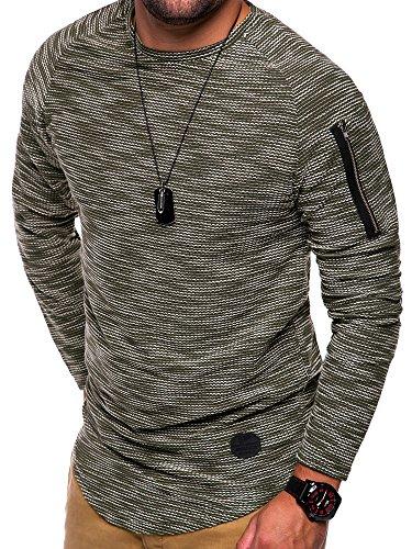 MT Styles Oversize Longsleeve Feinstrick Pullover C-9119 Khaki