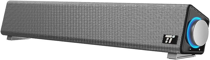 PC Lautsprecher TaoTronics Soundbar Computerlautsprecher mit Mikrofoneingang & Kopfhörerausgang, fassender Kompatibilität, hervorragender Soundqualität für Büro & Zuhause