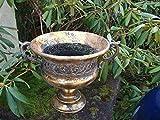 Dekorativer Übertopf Amphore Pflanztopf Vase Schale Eisen Antik-Look