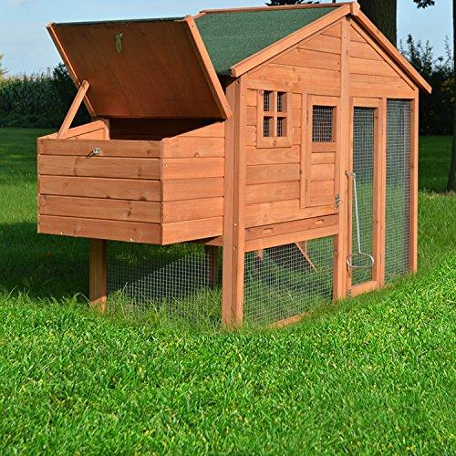 """ZooPrimus Hühner-Stall Nr 14 Geflügel-Voliere """"LUXUS-HÜHNERHAUS"""" Enten-Haus für Außenbereich (Geeignet für Kleintiere: Hühner, Geflügel, Vögel, Enten usw.) - 6"""