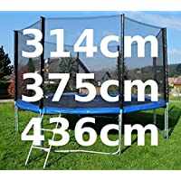 Preisvergleich für Outdoor Gartentrampolin Trampolin XL - 314 - 375 - 436 cm komplett inkl. Sicherheitsnetz und Leiter TÜV geprüft von AS-S