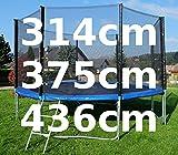 Outdoor Gartentrampolin Trampolin XL - 314 - 375 - 436 cm komplett inkl. Sicherheitsnetz und Leiter TÜV geprüft von AS-S