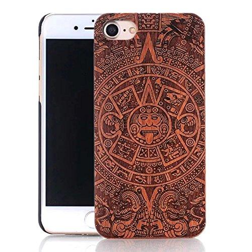 iPhone 6s Plus Hülle, iPhone 6 Plus Hülle, Vandot Holz Handyhülle iPhone 6s Plus / 6 Plus Schutzhülle Ultra Dünn Echtem Wood Hart Case Cover mit PC Hard Bumper Handytasche Retro Handmade Muster Patter Design 7
