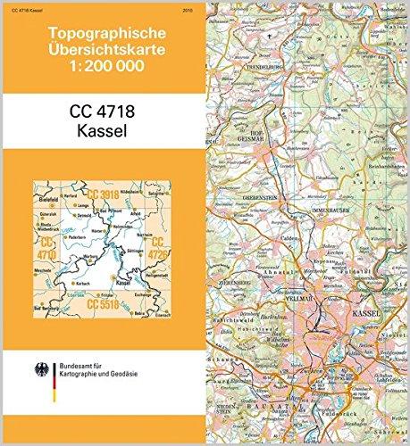 Kassel: Topographische Karte 1 : 200 000 CC4718 (Topographische Übersichtskarten 1:200000)
