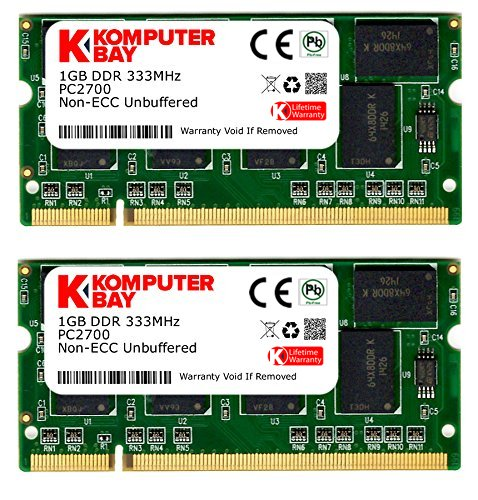 Digiwaycity 2 GB (2 x 1GB) DDR 333MHz PC2700 (200 Pin) sodimm Laptop-geheugen -