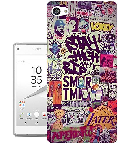024-cool-funky-quotes-stay-high-design-sony-xperia-z1-compact-fashion-trend-protecteur-coque-gel-rub