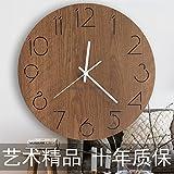 xing lin Wanduhr Küche Wanduhren Wanduhren Wohnzimmer Moderne Mute Wohnzimmer Wanduhren Runde Uhren Büros Wanduhren Uhren Holz Großen Nordischen Uhren Uhren, 12 Zoll, Gold Eiche
