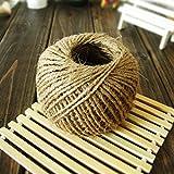 100 metros de cáñamo natural de yute guita de la arpillera secuencia de la cuerda (3 ply 3mm)