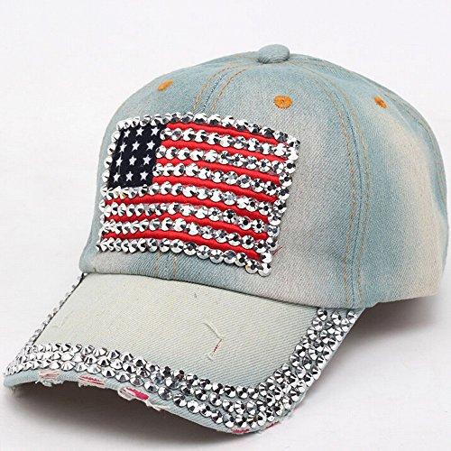 Baseball Cap,Kingko® Hip Hop Cowboy Baseball Cap Full Flat Snapback Hat C