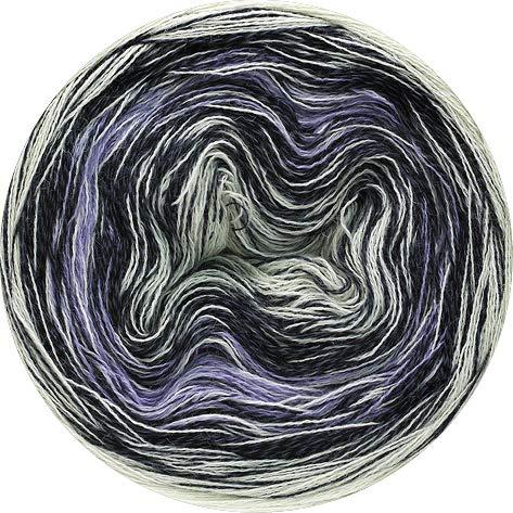 Lana Grossa Mirror Shades 706 - Ecru/Flieder/Anthrazit/Hellgrau