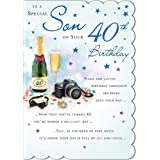 STUNNING TOP RANGE BEAUTIFULLY WORDED SON FORTY 40TH BIRTHDAY GREETING CARD
