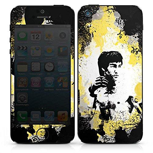 Apple iPhone SE Case Skin Sticker aus Vinyl-Folie Aufkleber Bruce Lee Kungfu Karate DesignSkins® glänzend