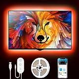 Govee Retroilluminazione 2m TV, Striscia LED RGB USB con App Control, Led Monitor 7 Modalità 16 Milioni Colori DIY per…
