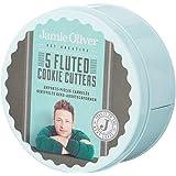 Jamie Oliver–Moldes para Galletas, diseño Estriado Puerto Azul, Tin–Juego de 5