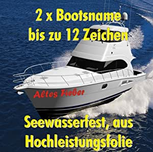2 stk bootsname amtliches kennzeichen boot schiff nummer schlauchboot bis zu 12 zeichen amazon. Black Bedroom Furniture Sets. Home Design Ideas