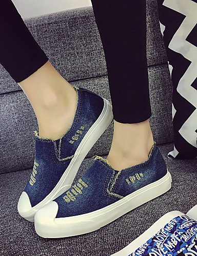 ZQ gyht Scarpe Donna - Ballerine / Mocassini / Senza lacci - Tempo libero / Casual - Comoda / Punta arrotondata - Piatto - Denim -Nero / Blu / , dark blue-us8 / eu39 / uk6 / cn39 , dark blue-us8 / eu3 dark blue-us6 / eu36 / uk4 / cn36