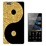 003250 - Gold and black ying yang Design Elephone M2