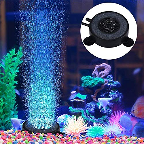 SOULONG Aquarium Aquarium, Aquarium Bubble Light, 6 LED-Lampe, Aquarium Bolla Aria Stein Fish Tank Bubble Dekoration