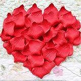 Artificiales de la Flor Pétalos de Rosa de Seda para la Decoración de la Boda Suministros a Granel Rojo