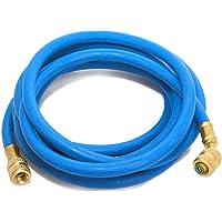 Klimaanlage Split R407c - R134a Füllschlauch 3,0m 1/4 SAE 1/4 blau