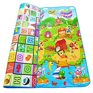 Farm + Fruit Letters Printed Kids Gym Rug Baby Game Carpe Developing Mats