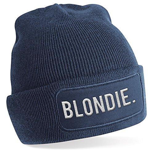 Blondie., Motiv auf Beanie Mütze - warme Wintermütze - modisches Accessoire - Unisex - für Mann und Frau - classic - Vielzahl an Motiven und Designs / (Herren Haare Blonde)