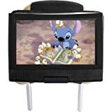 Hikig Soporte de reposacabezas de Coche Universal para Reposacabezas de Coche para Portable Girar DVD Player(Caber 7 Pulgadas