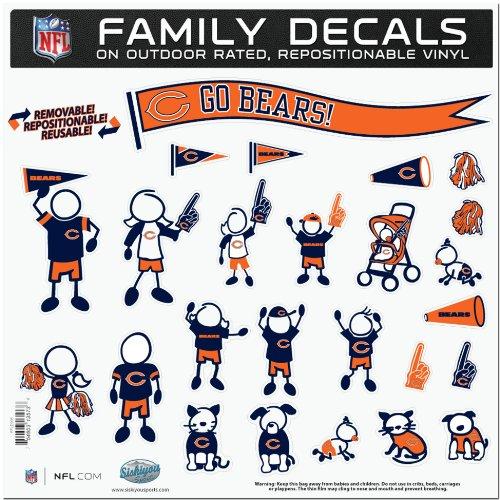 rge Family Aufkleber-Set, Keines, Chicago Bears, Each ()