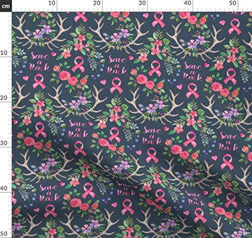 hleife, Wasserfarben, Blumen Stoffe - Individuell Bedruckt von Spoonflower - Design von Micklyn Gedruckt auf Leinen Baumwoll Canvas ()