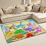 coosun Dinosaurier Bereich Teppich Teppich rutschfeste Fußmatte Fußmatten für Wohnzimmer Schlafzimmer 78,7x 50,8cm, Textil, multi, 31 x 20 inch