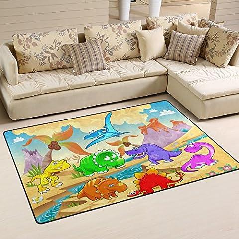 COOSUN Dinosaurs Area Rug Carpet Non-Slip Floor Mat Doormats for Living Room Bedroom 31 x 20 inches