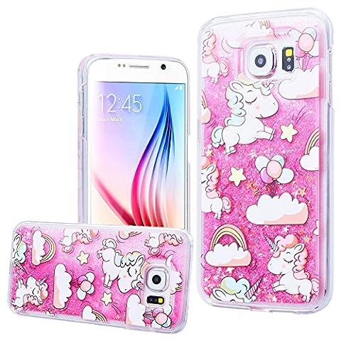 WE LOVE CASE Samsung S6 Hülle Einhorn , Galaxy S6