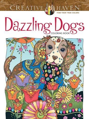 Creative Haven Dazzling Dogs Coloring Book (Creative Haven Coloring Books)