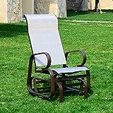 Outsunny - Dondolo da Giardino in Tubi d'Alluminio e Panno di Textilene 59.6 × 47 × 104.6cm immagine