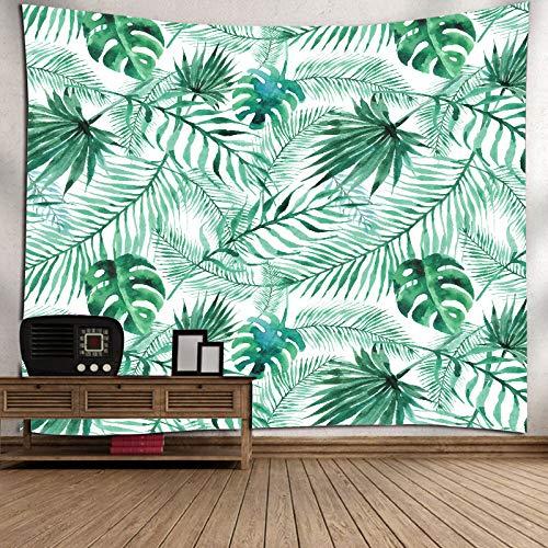 Wandteppiche Stranddecke tropischen einfachen Wind Digitaldruck Hause Tapisserie Wandbehang Stranddecke, Palmblätter, 150 * 130cm (Tropische Zimmer Dekor)