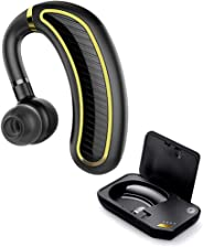 Xmate Edge Bluetooth Headset, Mono Headphone with 25 Hours Talk Time, Bluetooth 5.0 Earphone, IPX5 Waterproof, Wireless Earbuds with Inbuilt Mic & Charging Case (Black)