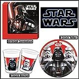 Star Wars Last Battle Party-Deko 36-teilig Servietten Pappteller Plastikbecher Kindergeburtstag Partygeschirr für 8 Kinder
