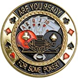 "Poker Card guard ""are you ready"" bienes de oro"