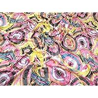 04d5c9ceab73 Floral Burn Out Poly Viskose Stretch Jersey Kleid Stoff mehrfarbig –  Meterware