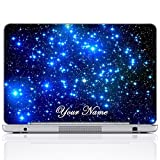 Meffort Inc Personalized Laptop Notebook Notebook Skin Sticker Cover Art Decal, Customize Your Name (14 Inch, Galaxy Stars)