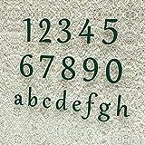Colours-Manufaktur Hausnummer Klassisch 0-9 und a-h *Made in Germany* Viele Verschiedene Farben und Größen wählbar (15 cm, RAL 6005 moosgrün [grün] glänzend)