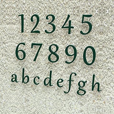 Hausnummer Klassisch 0-9 und a-h *MADE IN GERMANY* viele verschiedene