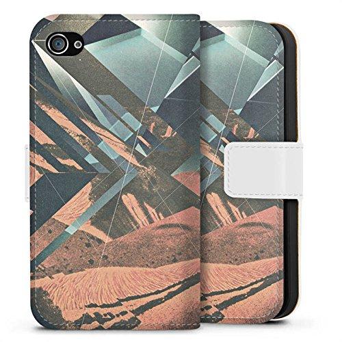 Apple iPhone X Silikon Hülle Case Schutzhülle Mars Hipster Muster Sideflip Tasche weiß
