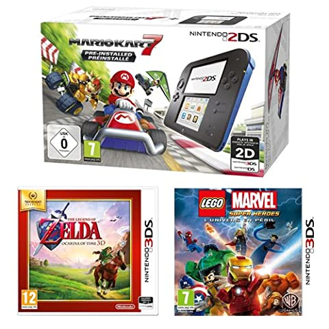 Console Nintendo 2DS + Mario Kart 7 + The Legend