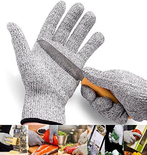 DIKETE® Premiun Schnittschutzhandschuhe Hochleistung Schnittschutz Handschuhe L (Pullover Reinigungs-wolle)