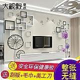 Tapete Experten TV-Hintergrund Wand Papier minimalistisch Modern Living room3dthe Stereo-Video-Gemälde mit Tapete Seamless-Tuch,