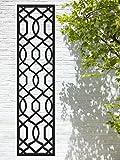 Treillis de jardin de qualité supérieure – 120 x 30 cm noir