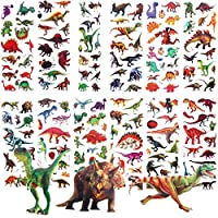 Amatt Stickers for Kids,Kids Dinosaur 3D Puffy Stickers Craft Scrapbooking for Childrens,Teacher Rewards Stickers, 12 Diffrent Sheets,Party Favor Bags Goody Gift