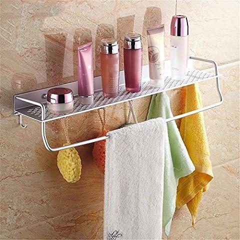 Aluminum alloy bathroom towel rack bath shower holder bathroom basket shower room suction wall shelf