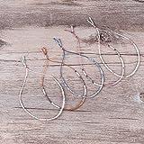 KELITCH Bohemian Armband Rocailles Perlen Handmade Mehrfarbig Zart Schnur Freundschaftsarmbänder - Weiß